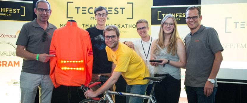 OSRAM textile lighting at Techfest Munich 2016