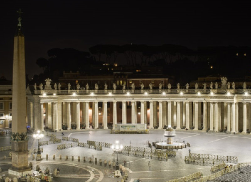 St. Peter`s Square - Rome, Italy