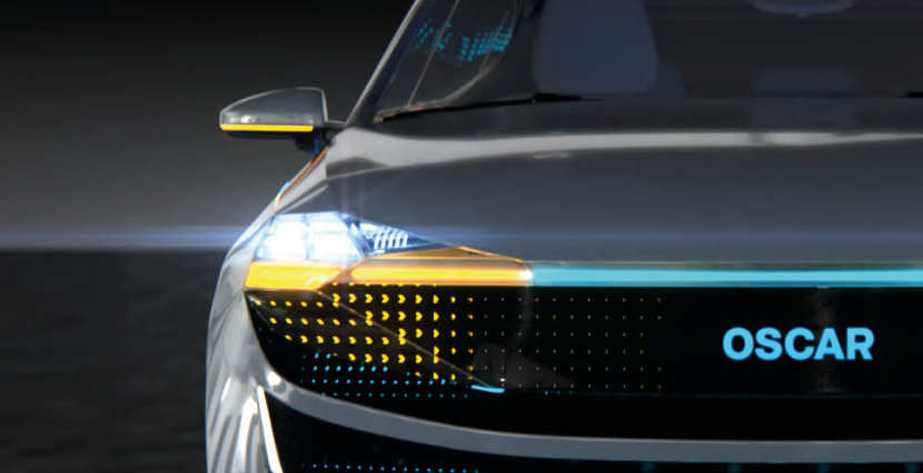 Light is adaptive: OSLON® Black Flat S - First individually addressable SMT multichip LED for Adaptive Driving Beam