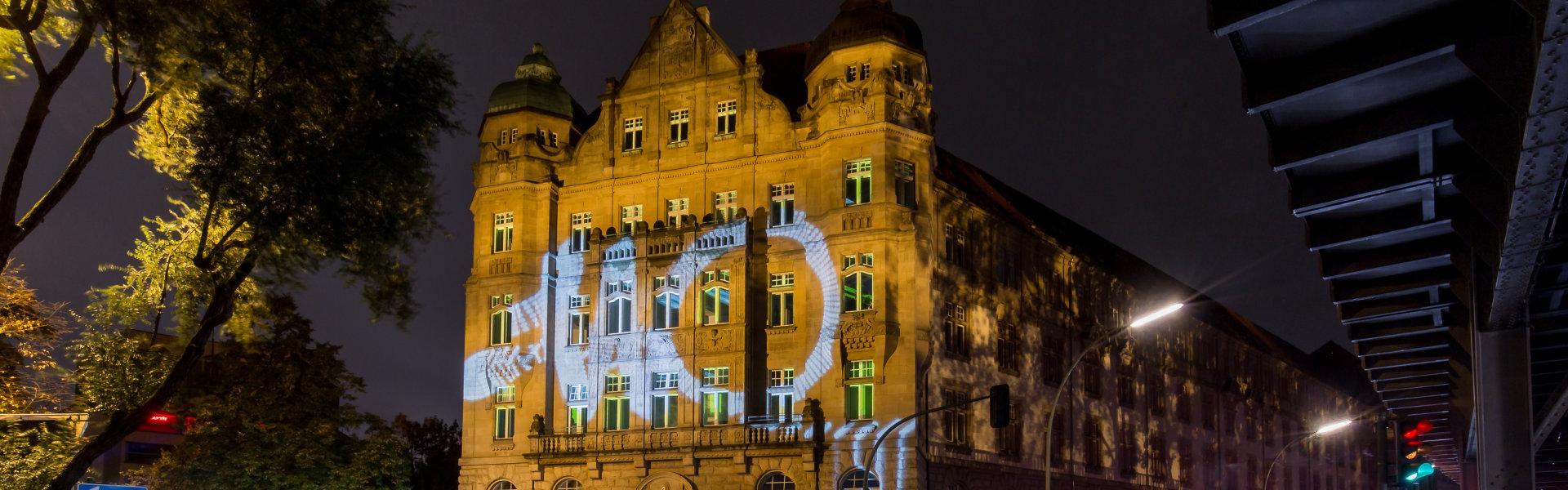 Projektion zum 110-jährigen Jubiläum am Patentamt in Berlin