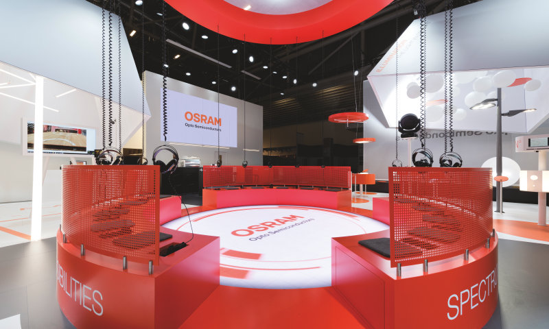 Award-winning booth designs – Osram Opto Semiconductors turns light into an experience