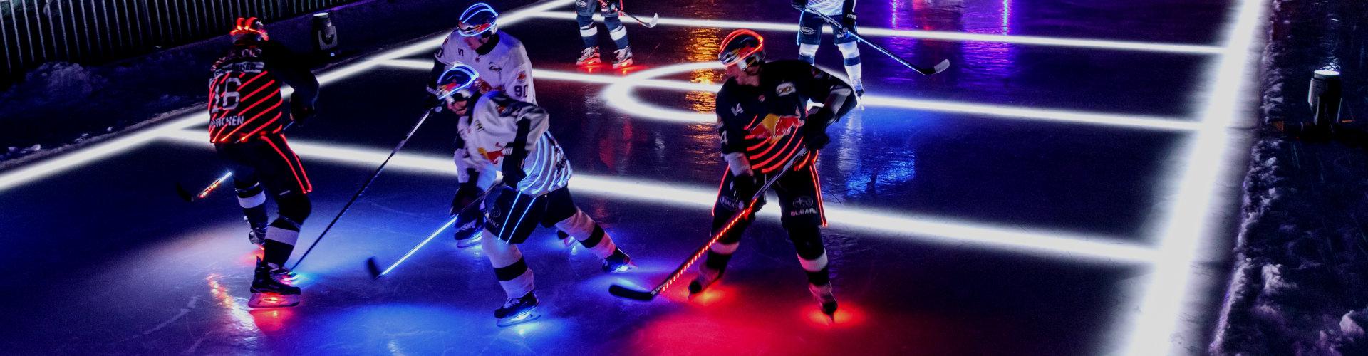 纺织照明欧司朗和在祖格峰最高点的慕尼黑红牛队(EHC Red Bull München)