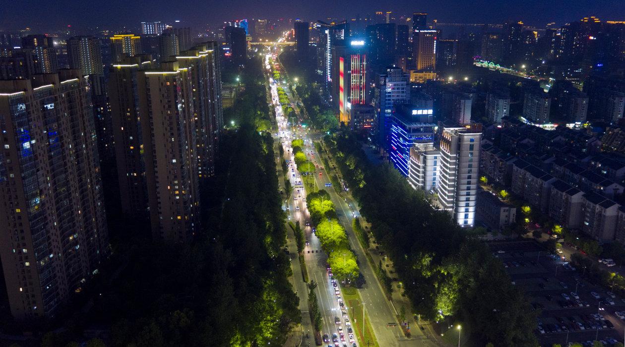 A bird-eye view of Jiangnan Avenue in Hangzhou