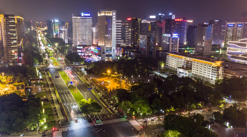 A bird-eye view of Jiangnan Avenue in Hangzhou