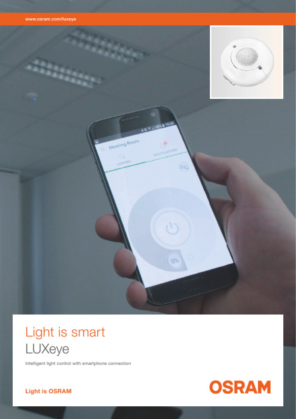 Download our LUXeye brochure! The intuitive way to the perfect light control