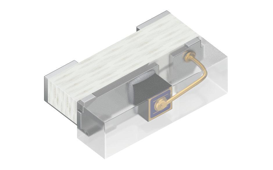 Die SFH 4055 ist die bisher kleinste seitenabstrahlende Infrarot-LED von Osram. Sie dient als Lichtquelle für Eye-Tracking Systeme in Virtual und Augmented Reality Headsets