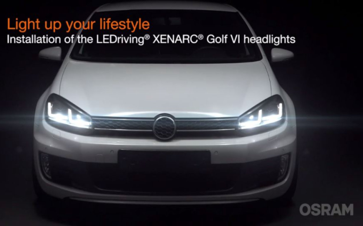 Installation video LEDriving XENARC Golf VI