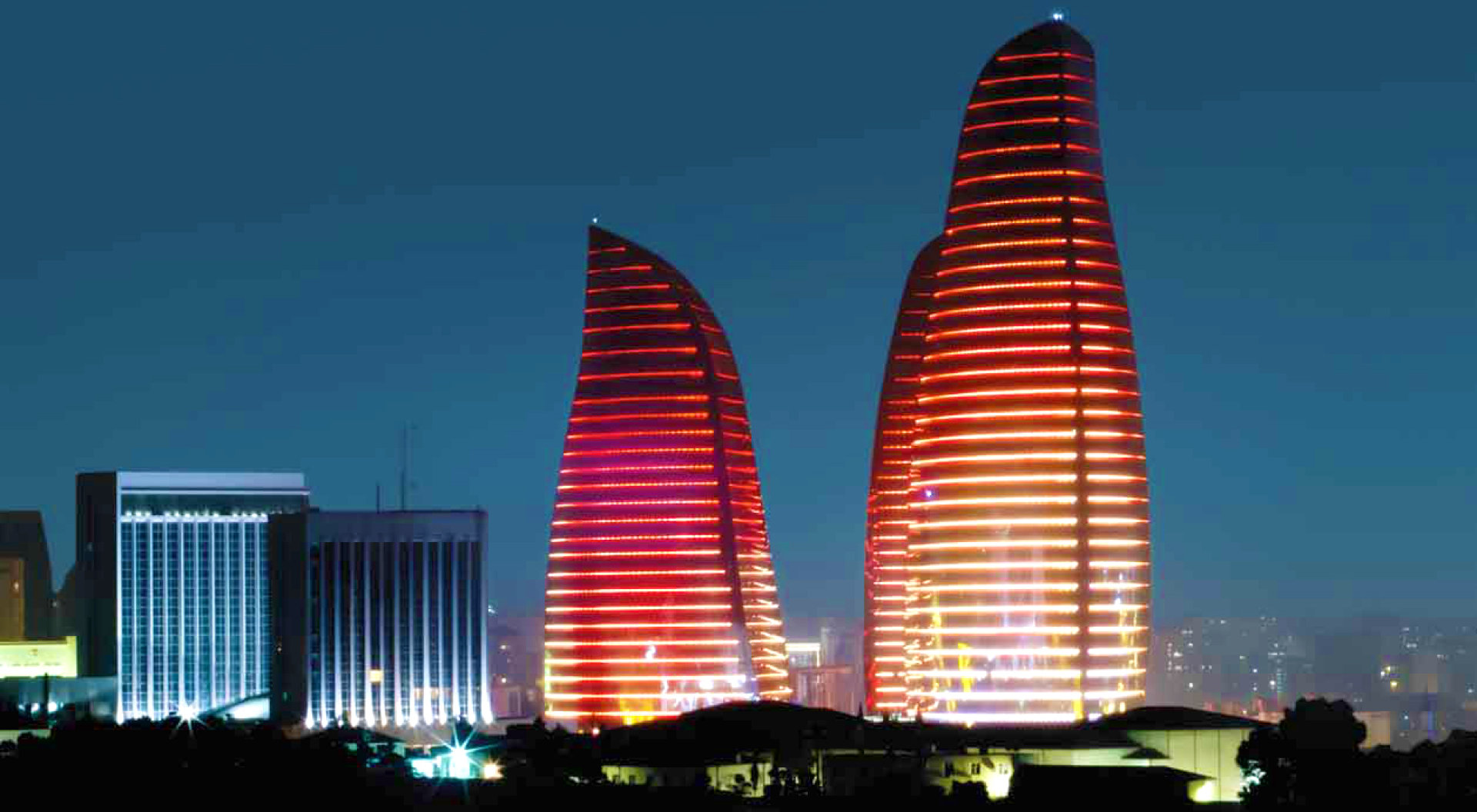 Traxon adds excitement to Flame Towers in Baku, Azerbaijan