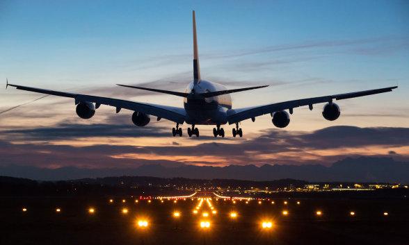 Airplane and Runway