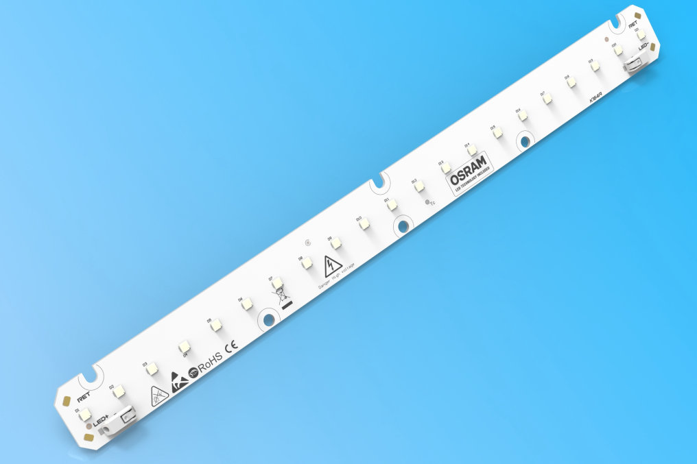 New partner highlight by CEZOS – 280 x 24 mm MCPCB LED module based on OSRAM DURIS S5