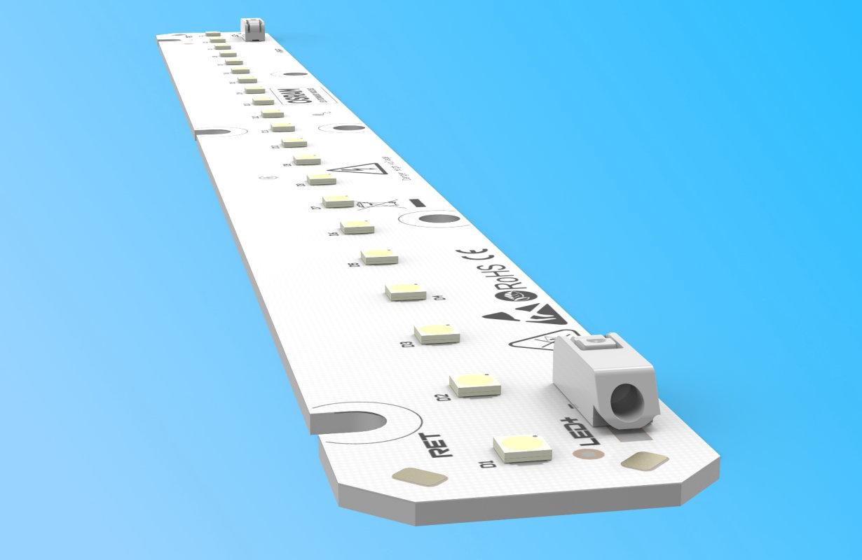 280x24 mm MCPCB LED module based on Osram Duris S5