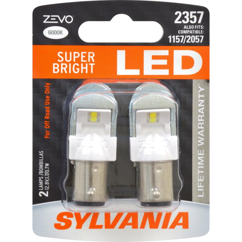 Sylvania Automotive Bulb Guide >> SUPER BRIGHT LED, Lifetime Warranty*, Improved Style & Safety -SYLVANIA 2357 ZEVO LED | SYLVANIA ...
