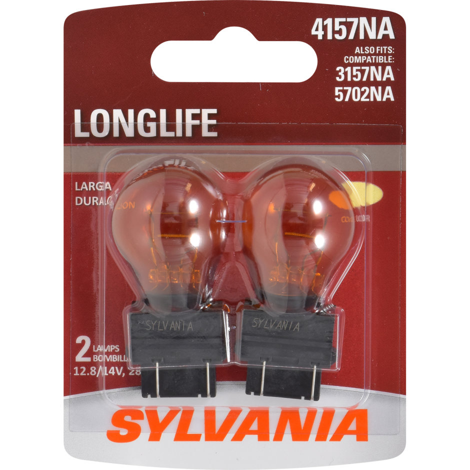 4157NA (AMBER) Incandescent Bulb - LongLife
