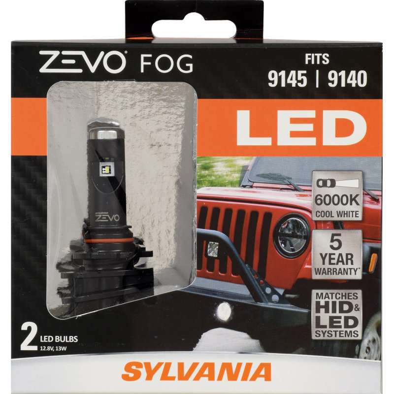 5 Year Warranty Sylvania 9145 9140 Zevo Led Fog Bulb