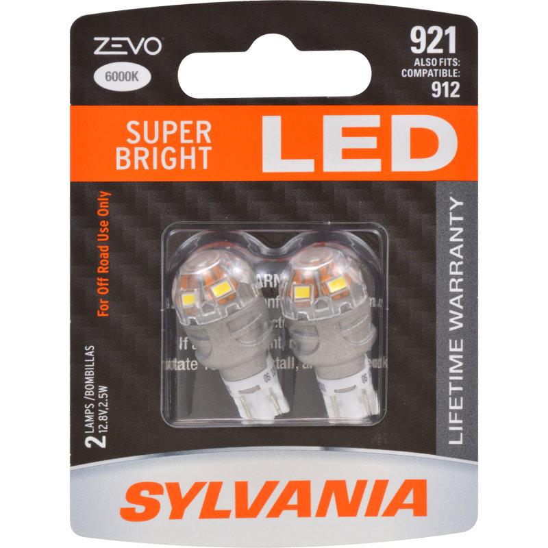 Sylvania Automotive Bulb Guide >> SUPER BRIGHT LED, Lifetime Warranty*, Improved Style & Safety -SYLVANIA 921 ZEVO LED | SYLVANIA ...
