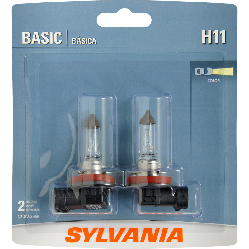 Sylvania H11 Basic Headlight Bulb Sylvania Automotive