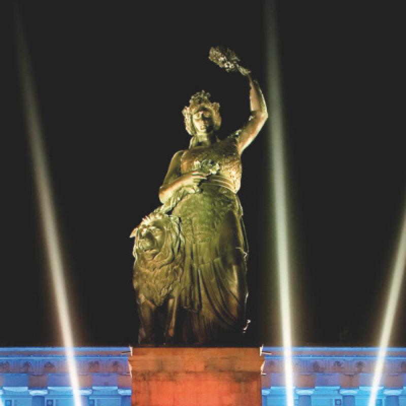 The Bavaria statue at the Oktoberfest