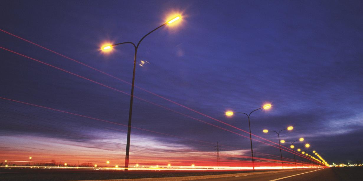 LEDs in der Straßenbeleuchtung