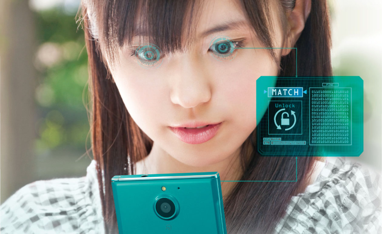 Application - Window of Visions - Bio sensing - Girl with smartphone