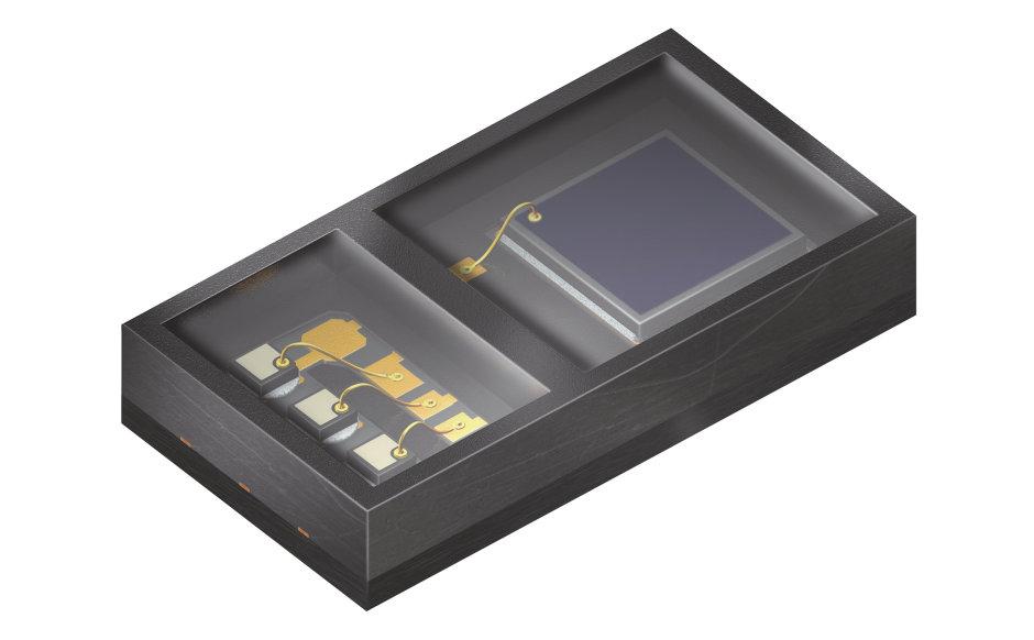 SFH 7051集積センサは心拍数測定に使用され、3つの高効率緑色LEDと大型のフォトダイオードから構成されています。このコンパクトなコンポーネントは高いエネルギー効率を実現しています。