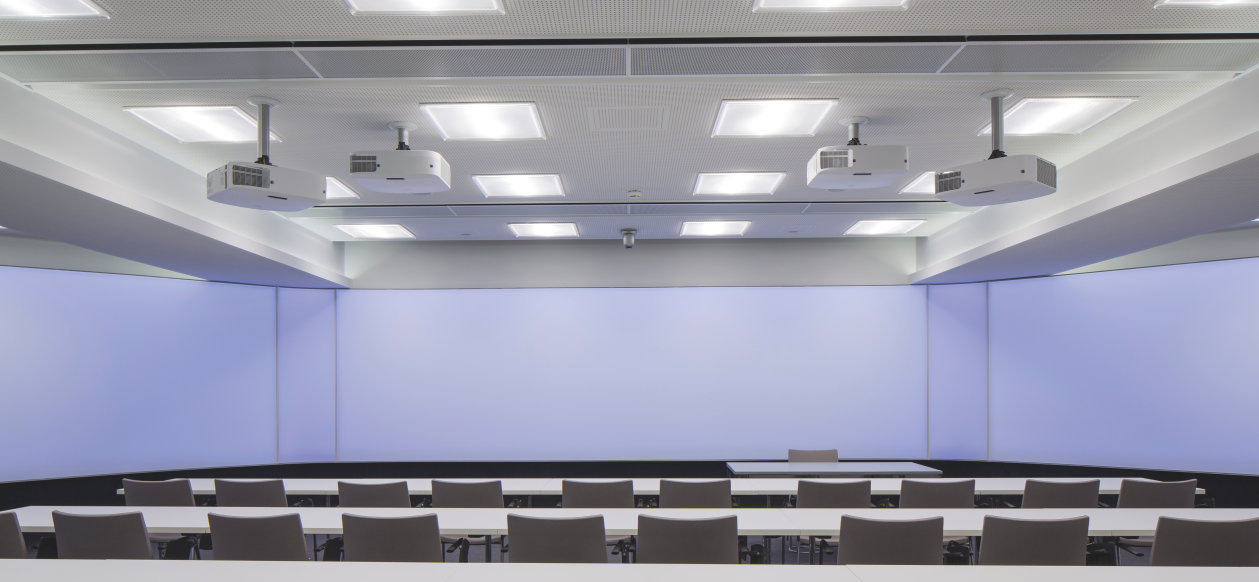 Optically and technically up to date siemens vai in linz relies on led lighting solutions by siteco and osram for the refurbishment of a conference room