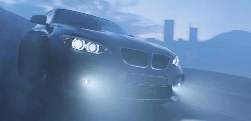 Fahrzeug mit LED Nebelscheinwerfern