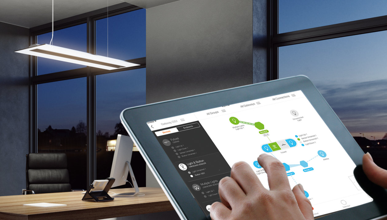 Lightify Pro Intelligent Networked Lighting Light Is Osram Wiring Diagram Free Download Schematic Solutions With Little Effort To Their Customers In Offices Medical Practices Law Firms Agencies Restaurants And Shops No Or Wall