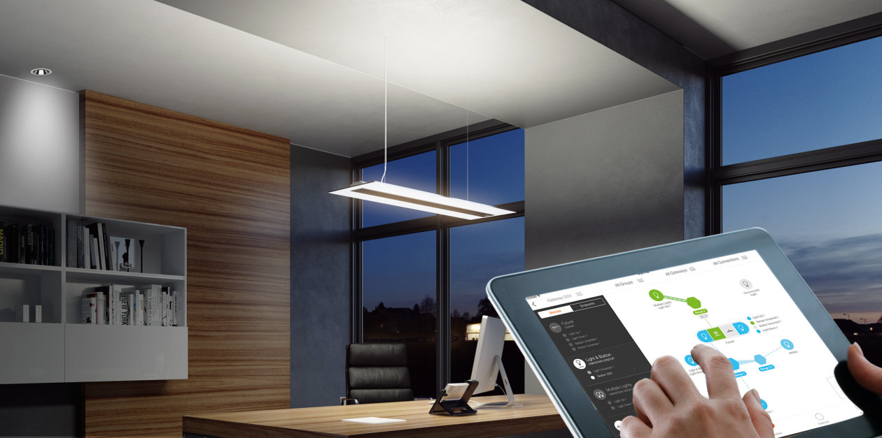 Light Management Lightify Pro Osram Lighting Solutions Design And Home Automation Wiring With Little Effort For Their Customers In Offices Medical Practices Law Firms Agencies Restaurants Shops No Or Wall