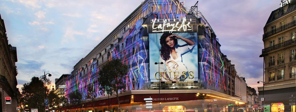 "Reshape the shopping experience of the ""Galeries Lafayette 'Chrysalide'"" with dynamic lighting in France"