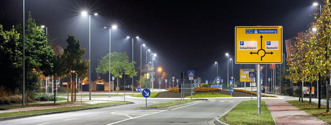 Energy efficient LED street lighting with more than 3.400 LED luminaires in Bensheim