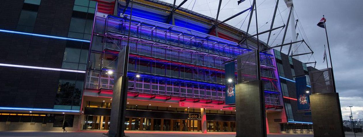 """Smart Stadium"" with intelligent lighting systems - Melbourne Cricket Ground in Australia"