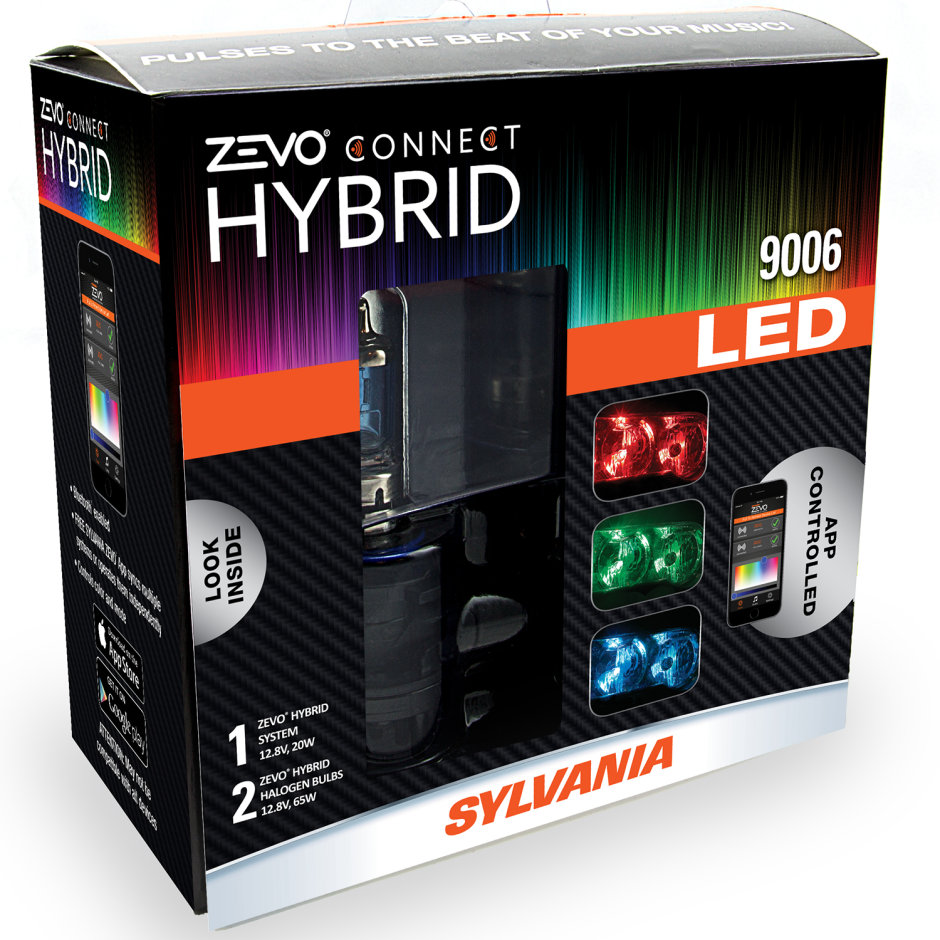 SYLVANIA 9006 ZEVO Connect Color Changing Headlight