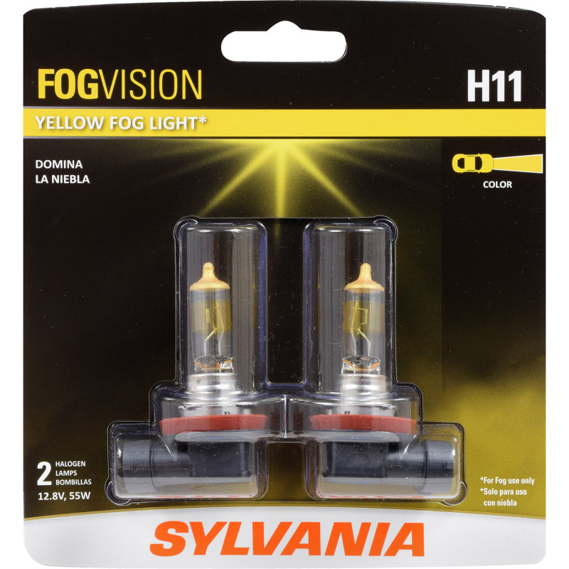 Sylvania Automotive Bulb Guide >> Yellow Fog Light - SYLVANIA H11 FogVision Fog Bulb ...