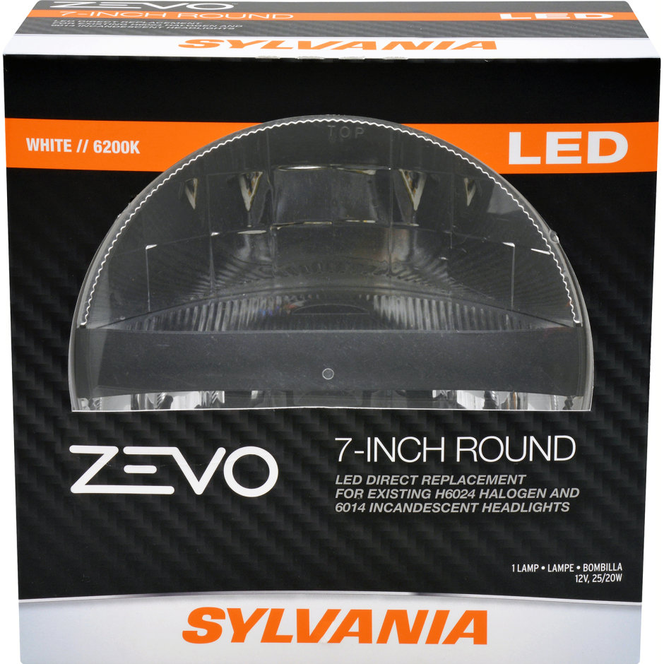 SYLVANIA L6024 LED Headlight - 7IN Round Sealed Beam