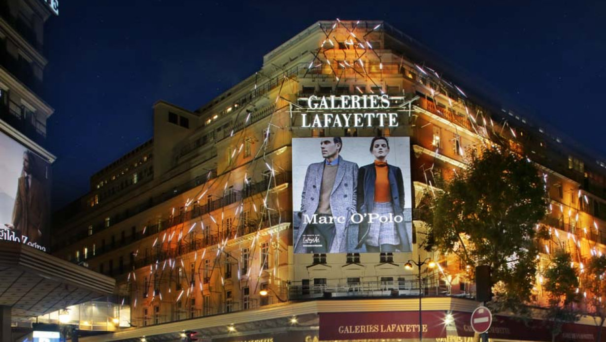 Led Mall Lighting For Galeries Lafayette In Paris France