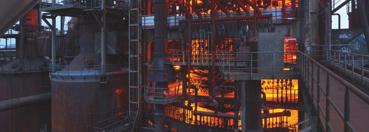 dynamic led light for blast furnace phoenix west in dortmund osram