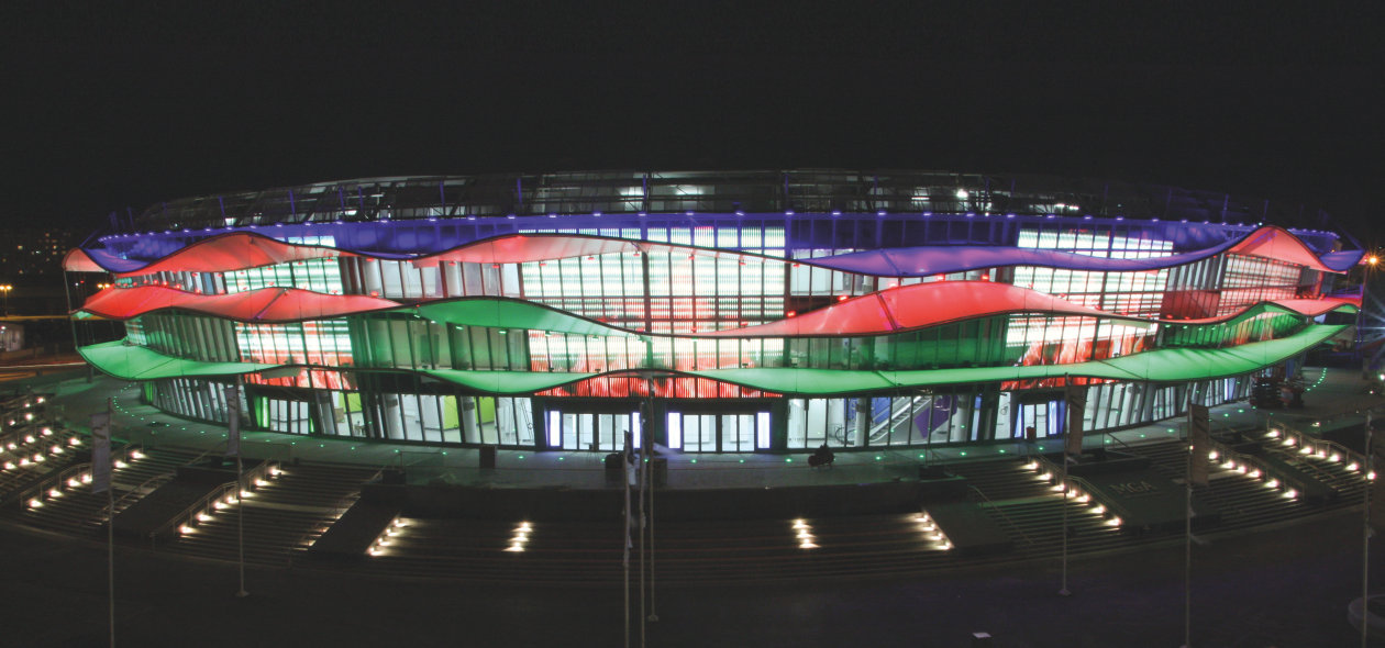 Osram subsidiary companies have installed outstanding lighting at the european games 2015 in azerbaijan siteco has equipped the baku olympic stadium with