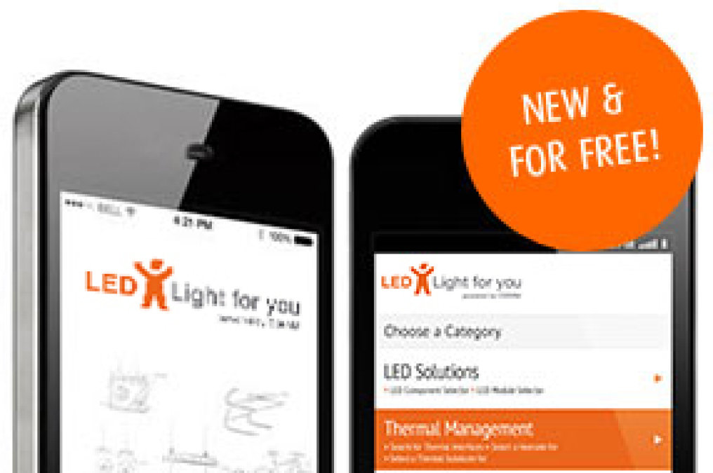 With opening of the light+building 2014 LED Light for you launches its new Product Selector App.