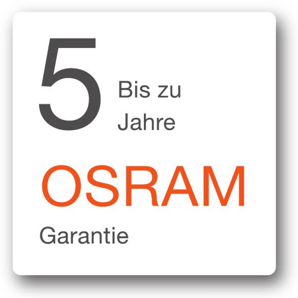 Bis zu 5 Jahren OSRAM-Garantien für Verbraucher