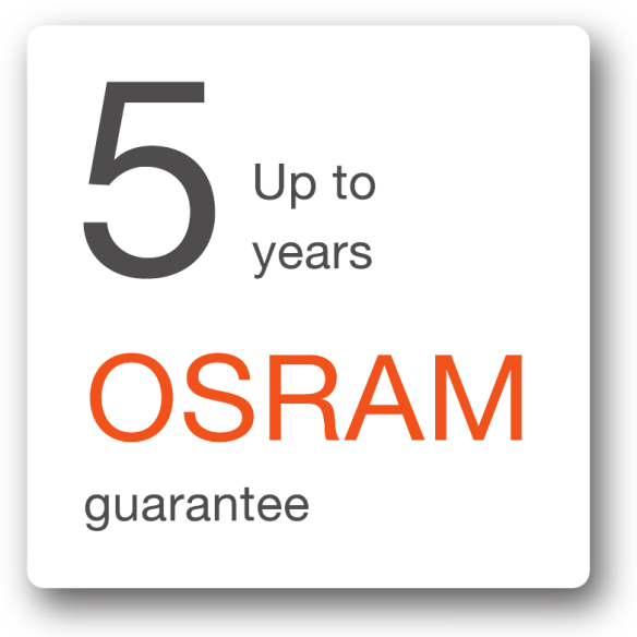 Up to 5 years OSRAM guarantees for consumer