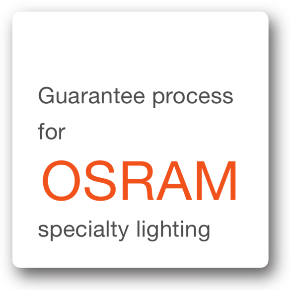OSRAM-garanti: Garantiprosess for spesialbelysning