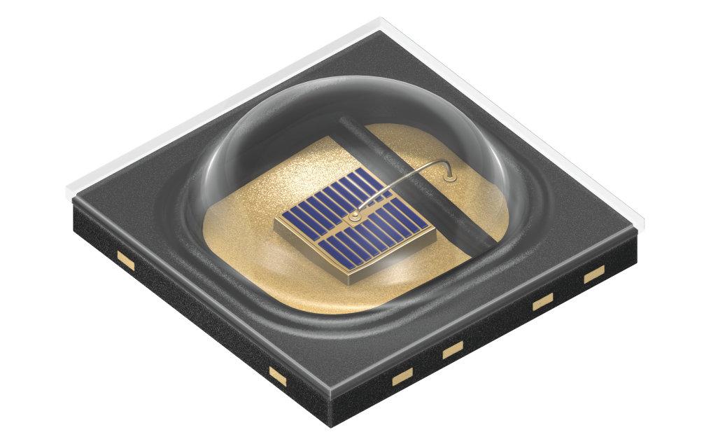 欧司朗Oslon Black系列再添新品,在脉冲模式下工作电流可达 5 A。
