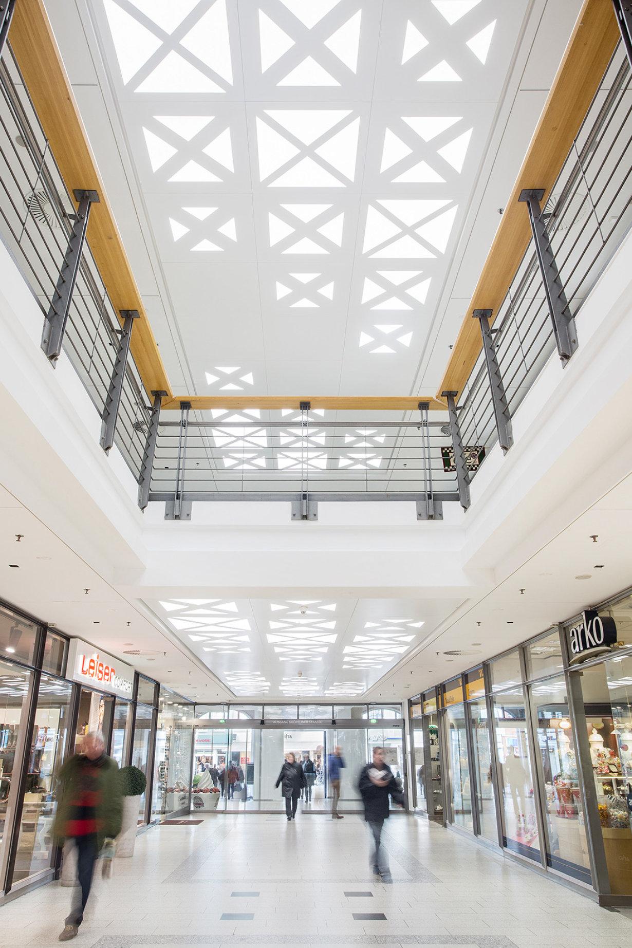 Innovative Light Ceiling At The Rostocker Hof Shopping