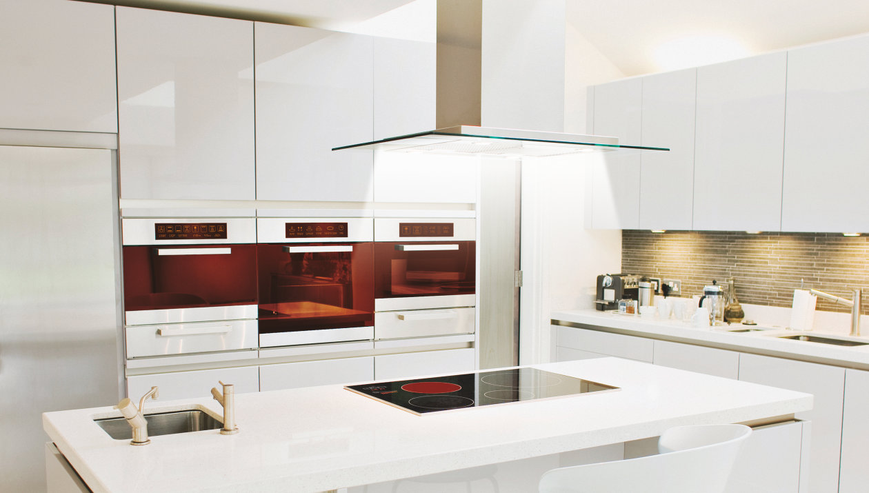 Application - White Goods - Light and Sensing Components - white, modern Kitchen