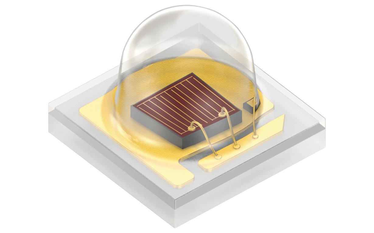 Two Oslon family LEDs used in Infinite Harvest's lighting fixtures: Oslon SSL 660 nm. Image: Osram