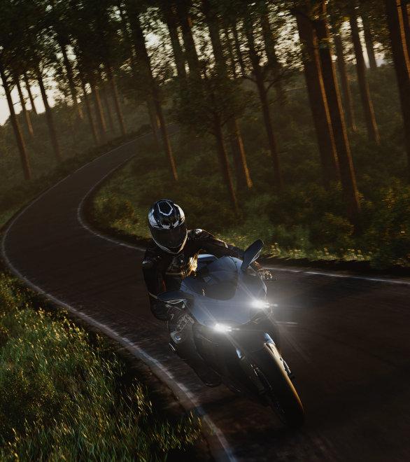 Motorräder mit stylischerem Licht