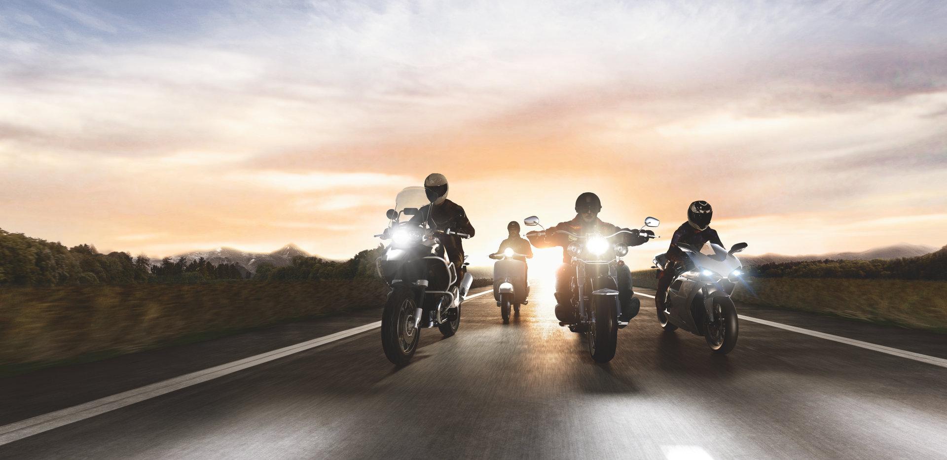 Osvetlenie motocyklov