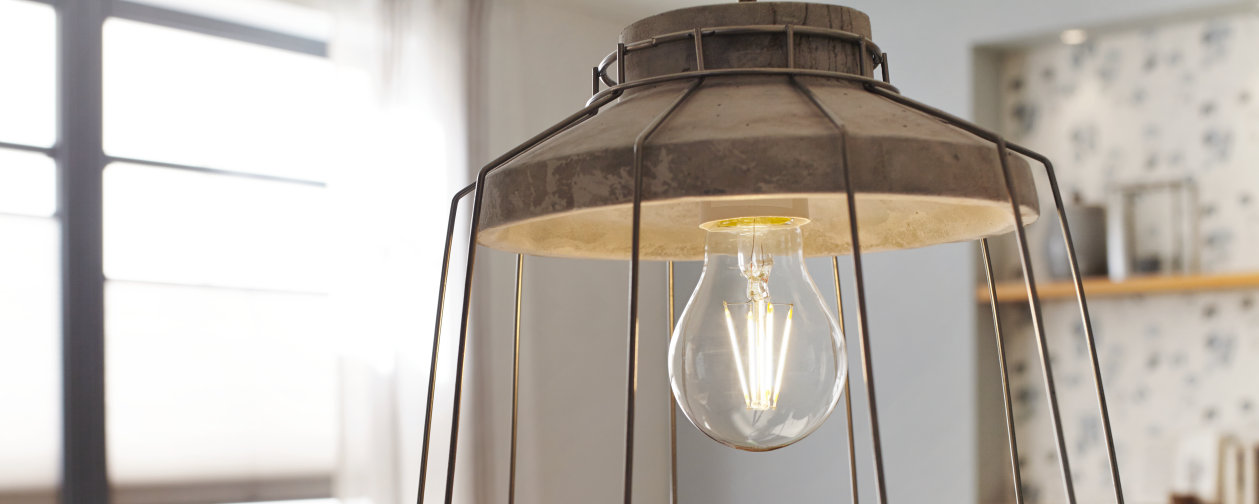 The latest technology in the popular vintage look: filament LEDs for stylish lighting
