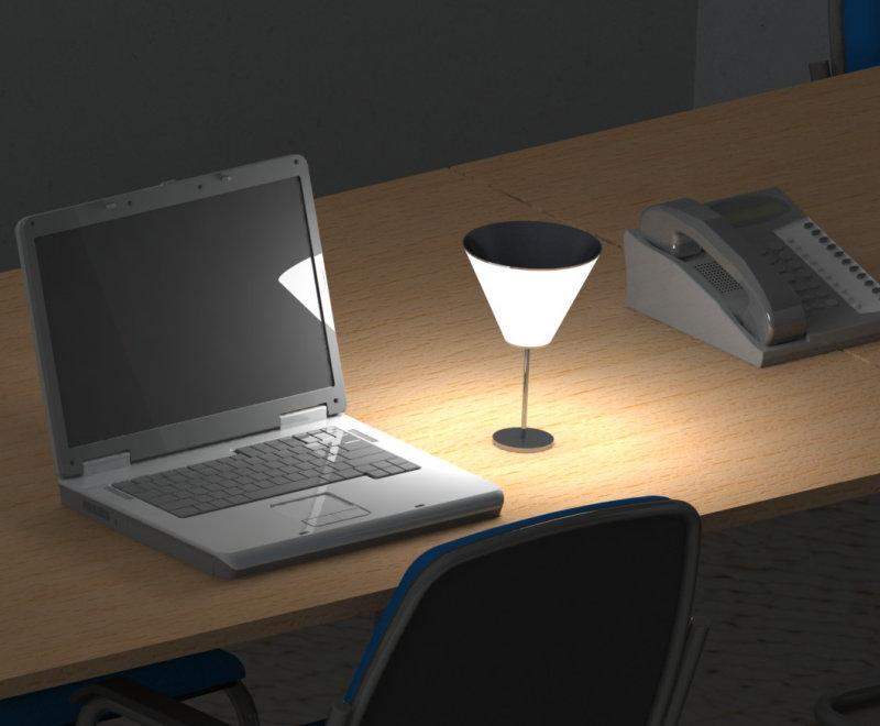 rendering,OLED design luminaire