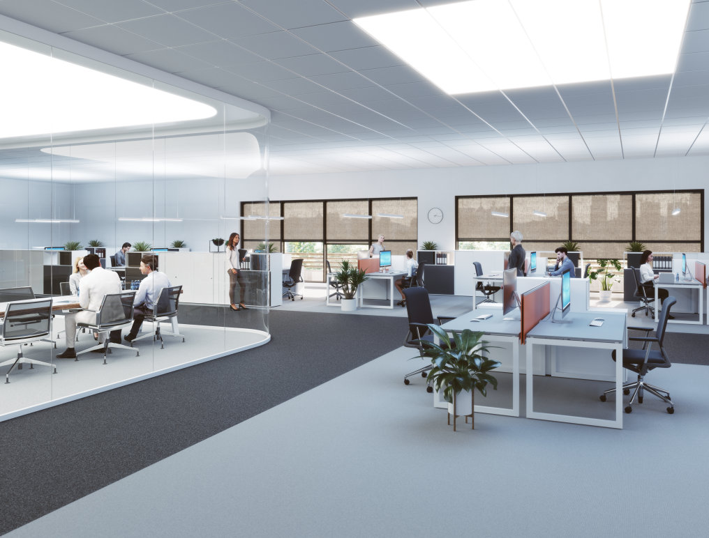 Human centric lighting optimized lighting for modern working environments